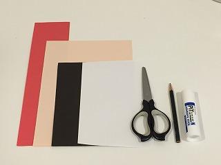 色画用紙・はさみ・糊・鉛筆